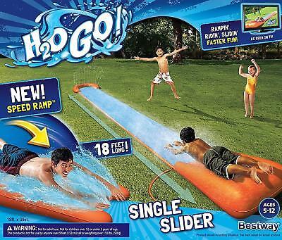 H2O Go Water Slider 18' Outdoor Inflatable Water Slip Slide Summer Toy Bestway