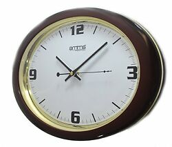 Bold Brown Oval Case Arabic Numerals Quartz Wall Clock GD121074