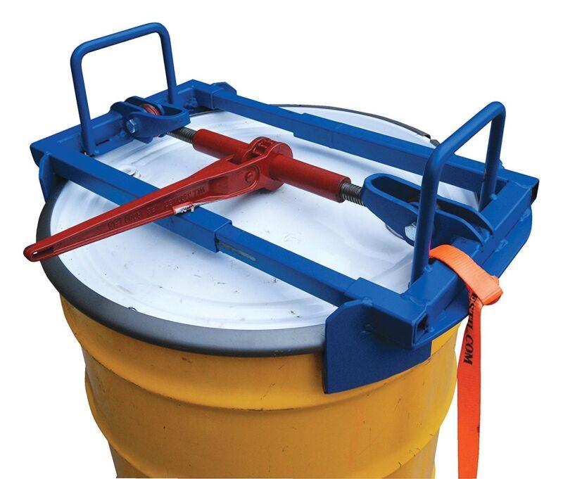 Vestil Vertical Drum Lifter 55 Gallon 1500 Lb Capacity  For Truck Fork Hddl-55