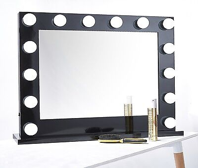 niches pro Hollywood Vanity makeup Mirror High Quality Large LED Bulbs black new
