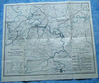 Wanderkarte von Altenbrak  Wendefurt und Umgebung Harz Sachsen-Anhalt Thale 1950