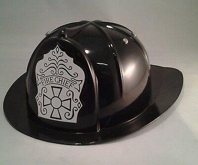 Kids Fireman Hats (Kids Black Fireman's Hat Firefighter Fire Captain Helmet Child Size)