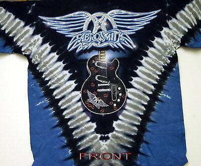 Aerosmith flying Guitar 2-sided Tie Dye T-shirt
