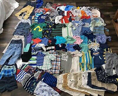 Infant Boy's Mixed Clothing Lot of 109 Pieces, 12-24 Mo + 2T, Great Brands, GUC