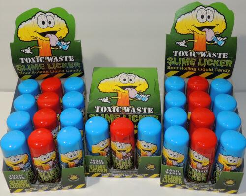 Slime Lickers Sour Rolling Liquid Candy Strawberry Blue Razz Toxic Waste TikTok