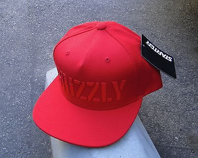 Grizzly Griptape X Supply Co  Hd Stamp Logo Red Snapback Hat