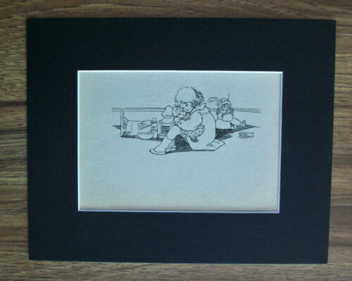 Print Girl Leigh Kidman Nurse Sick Dolly 1930s Bookplate 8x10 Matted Adorable