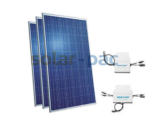 plug play photovoltaik anlage solaranlage flachdach schr gdach fassade ebay. Black Bedroom Furniture Sets. Home Design Ideas