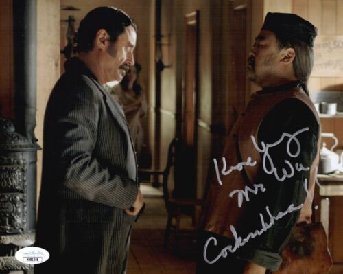 KEONE YOUNG Signed Mr. Wu DEADWOOD 8x10 Photo In Person Autograph JSA COA Cert