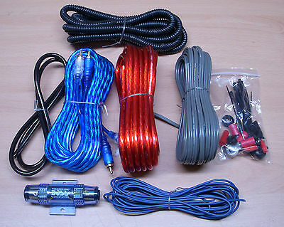 1500W Complete 8 GAUGE Car Amp Vibe Amplifier Cable Subwoofer Wiring Kit KIT2