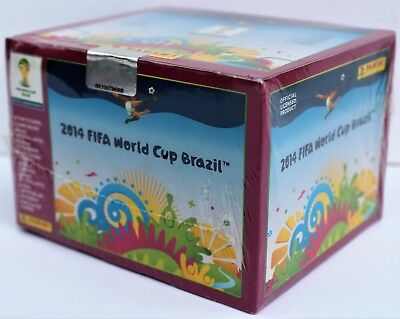 Panini World Cup 2014 Brazil - box with 100 packs - rare purple version display