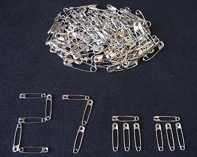 100 Sicherheitsnadeln 27 mm silber Nadeln Stecknadeln Nähnadeln Schneiderei