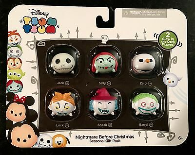 Tsum Tsum NIGHTMARE BEFORE CHRISTMAS Seasonal Gift Pack of 6 Vinyl Figurines