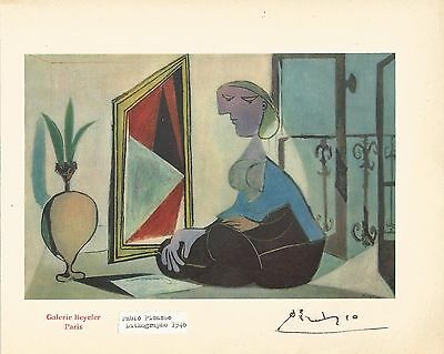 Hand Signed PICASSO PABLO 1881-1973 Lithographe Spanish Painter GALERIE BEYELER