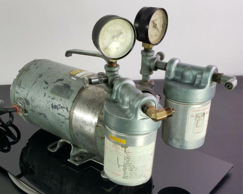 GAST FISCHER SCIENTIFIC VACUUM PUMP, LR39793 Rotary Vane 1/3 HP
