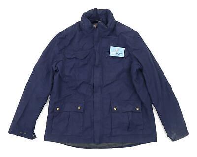 Mountain Warehouse Mens Size 2XL Cotton Blend Blue Lightweight Coat
