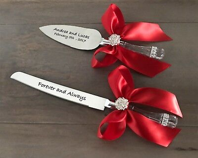 Personalized Wedding Cake Servers (Free Personalized Wedding Cake Server Set including Wedding Cake)