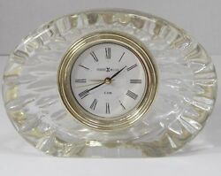 vintage Howard Miller lead crystal clock with alarm for desk or shelf from Japan