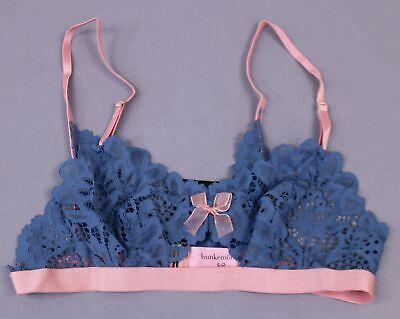 Hunkemoller Women's Natalie Lace Bralette KF7 Copen Blue Medium NWT