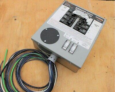 Generac 6294 7500 Watts 120240 Manual Transfer Switch Unused