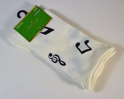 NWT KATE SPADE ZFO MUSIC NOTE CREW SOCKS STOCKINGS ONE SIZE NWT