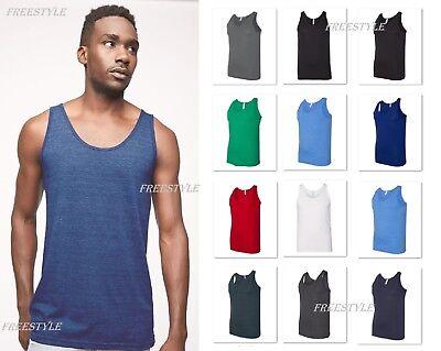 American Apparel Men's Poly/Cotton Tank Top Sport Gym Sleeveless T-shirt BB408W American Apparel Tank Top