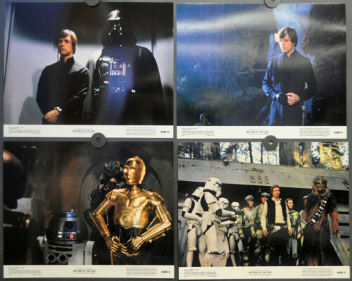 STAR WARS RETURN OF THE JEDI 1983 ORIGINAL 11X14 LOBBY CARD SET HARRISON FORD