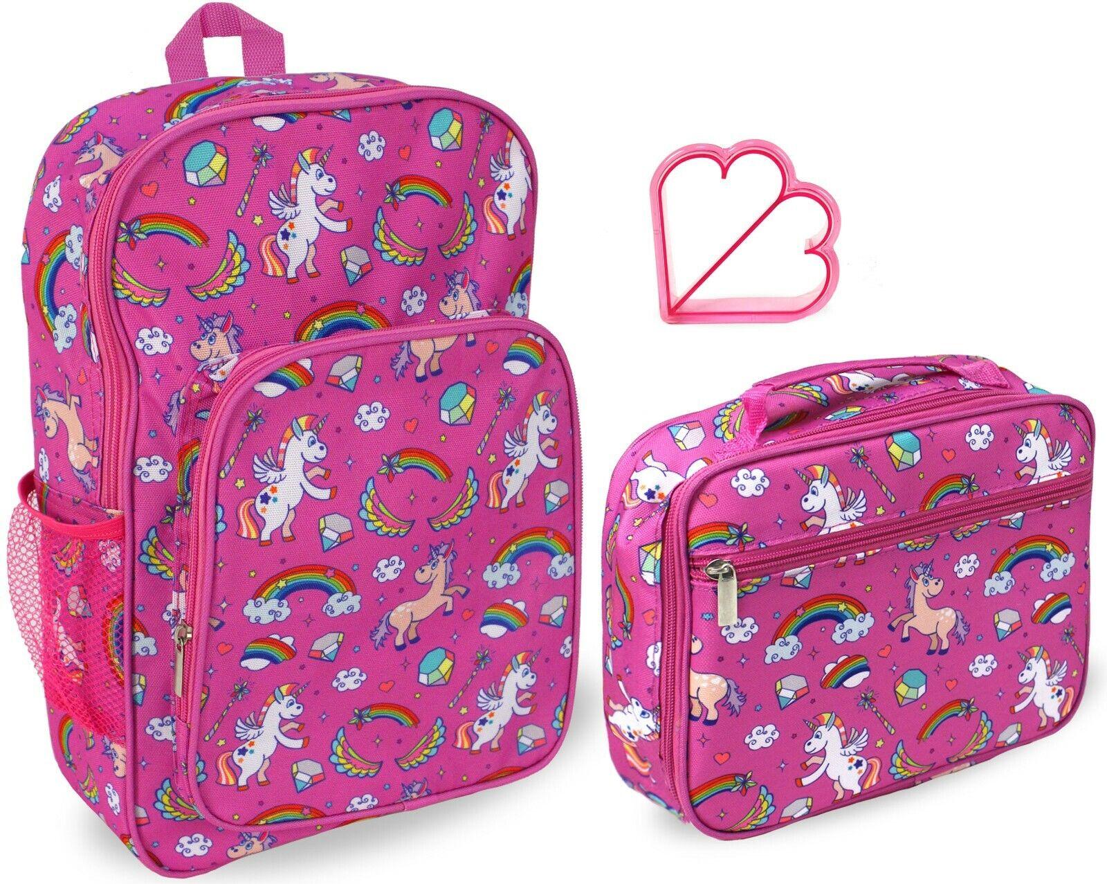 Keeli Kids Girls Lunch Box Backpack School Book Bag Set in U