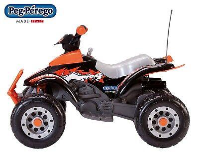 PEG PEREGO CORRAL T-REX arancio 12volt quad bimbo elettrico OR0066 -nuovo-Italia