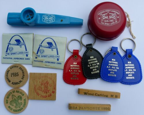 Group of Used 1985 National Jamboree Misc Items Boy Scout BSA YoYo Pens Keychain