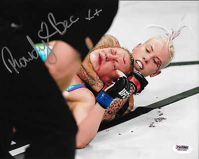 Rowdy Bec Rawlings Signed Ufc 8X10 Photo Psa Dna Coa Fight Night 65 Autograph 3