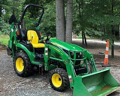 2018 John Deere 2025r Hst Diesel Tractor Loader Backhoe 4x4