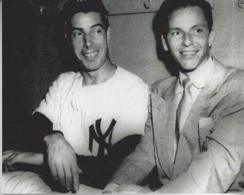 Italians NY Yankee Joe DiMaggio and Frank Sinatra 8x10 glossy photo