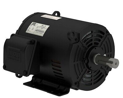 Weg 10 Hp 3 Phase 1750 Rpm Electric Motor Air Compressor Duty 213 215t Frame