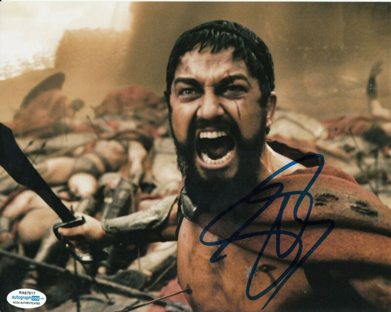 GERARD BUTLER signed (300) 8X10 Leonidas *PROOF* photo ACOA Authenticated #2