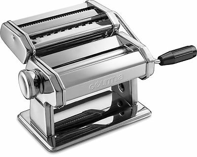 Gourmia GPM9980 Stainless Steel Pasta Maker, Roller & Cutter