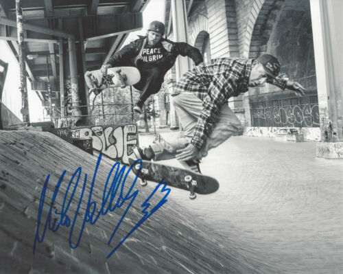 MIKE VALLELY SKATEBOARD LEGEND SIGNED 8X10 PHOTO w/COA BONES BRIGADE PROOF