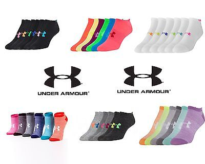 Under Armour Ua Ladies Womens No Show Ankle Socks 6 Pack 1259396 You Get 6 Pairs