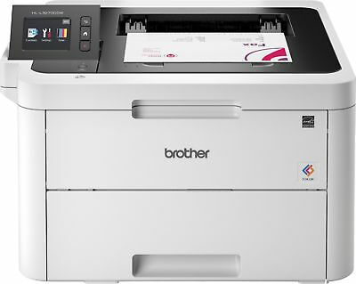 Brother - HL-L3270CDW Wireless Color Laser Printer - White