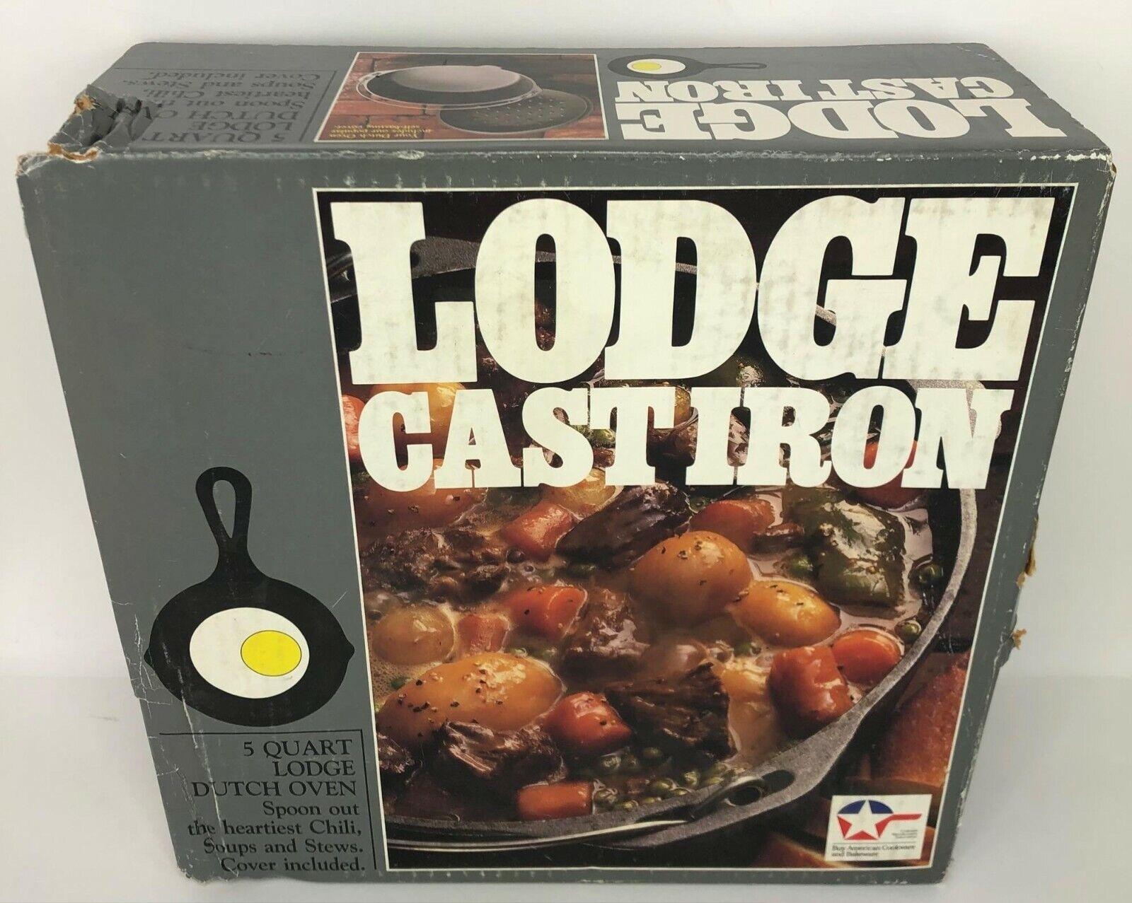 NEW Vintage Lodge Cast Iron 5 QT Dutch Oven