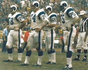 FEARSOME FOURSOME 8X10 PHOTO LOS ANGELES RAMS LA  PICTURE NFL FOOTBALL COLOR
