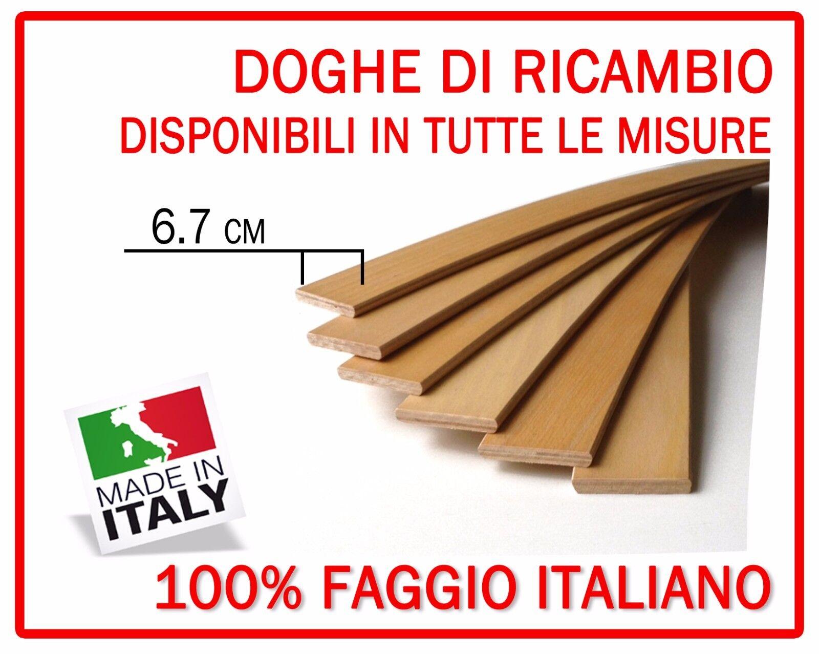 DOGA DOGHE DI RICAMBIO PER RETI LETTO IN LEGNO -TUTTE LE MISURE-LARGHEZZA 6.7 cm