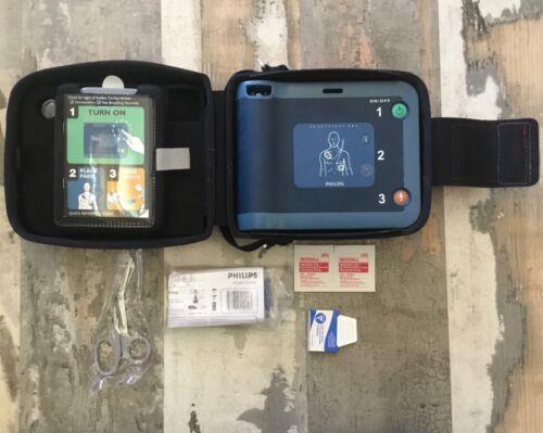 Philips HeartStart FRx AED Case-Battery SmartPads  NEW Battery
