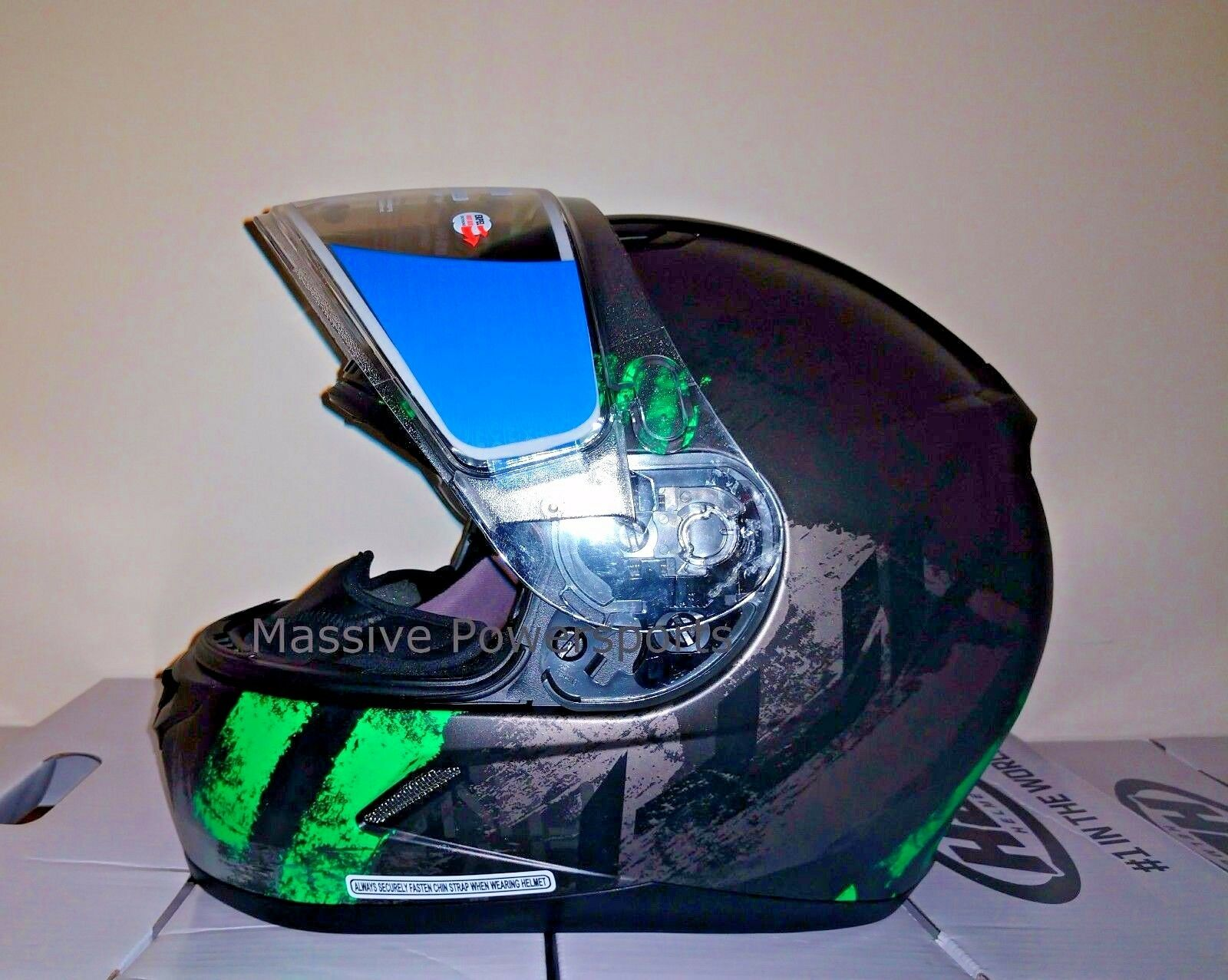 HJC CL-17 CL-17SN Arica Snowmobile Helmet Green XS Extra Small Snell M2015