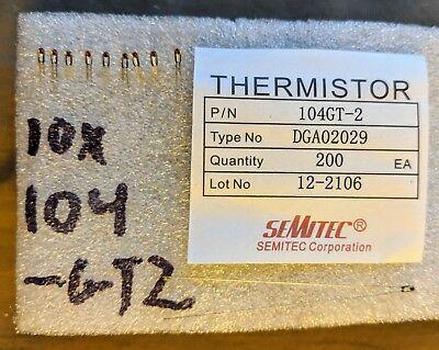 10x Genuine Semitec 104-gt2 Thermistor For Reprap 3d Printer Hotend E3d J Head