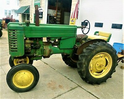 1950 John Deere M Tractor Ie- Model 40 420 Mt Br Antique