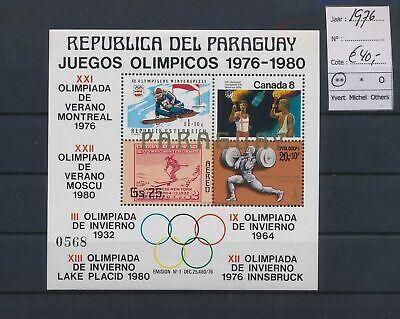 LO17110 Paraguay 1976 sports olympics good sheet MNH cv 40 EUR