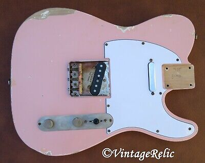 aged RELIC nitro TELE Telecaster loaded body Shell Pink Fender Custom Shop bridg