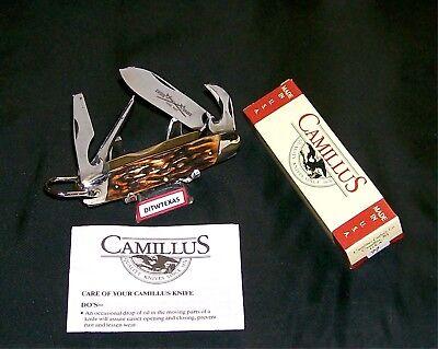 Camillus 97 Knife Sword Brand Camper Indian Stag Line 1973 W/Packaging,Paperwork