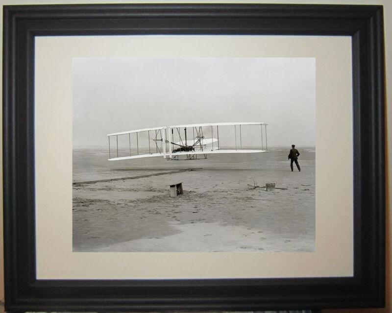 Wright Brother Kitty Hawk First Flight 1903 NC North Carolina Framed Photo